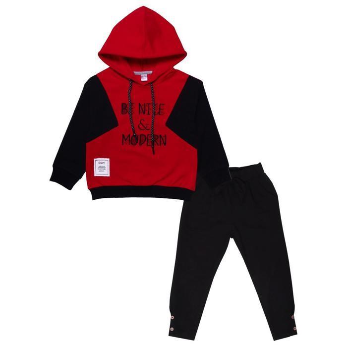 Комплект для девочки, цвет красный, рост 116 см
