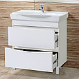 Комплект Тумба с умывальником для ванной «Акваль Верна» 80 см. (Умывальник Санти 80), фото 2