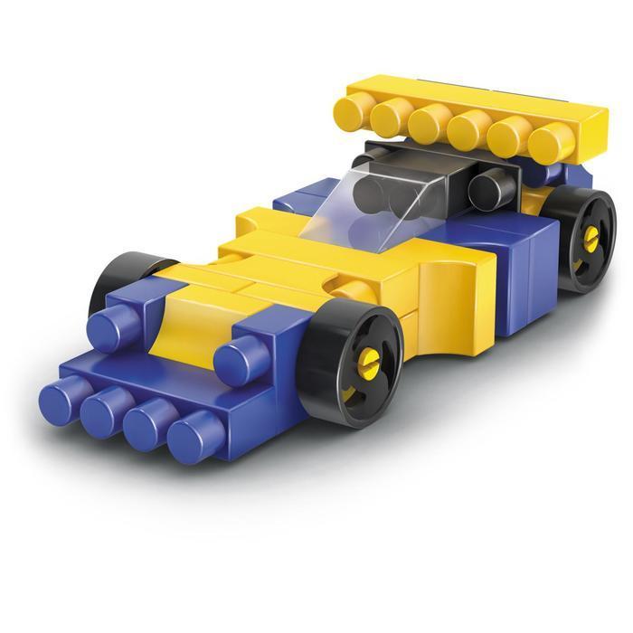 Конструктор «Гоночная машина. Pit Stop», цвет: синий, жёлтый - фото 2