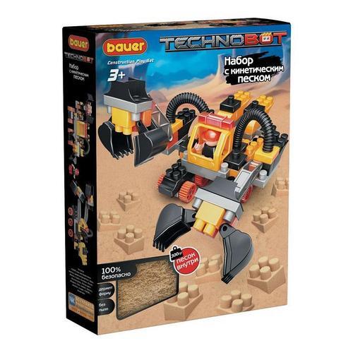 Конструктор Technobot, цвет: желтый, серый, черный, с кинетическим песком