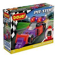 Конструктор «Гоночная машина. Pit Stop», цвет: фиолетовый, красный