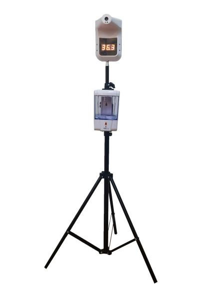 Стационарный инфракрасный бесконтактный термометр J02 со стойкой и диспенсером