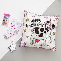 """Набор подарочный """"Beauty cow"""" подушка-секрет 40х40 см аксессуары (3 шт), фото 1"""