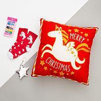 """Набор подарочный """"Unicorn"""" подушка-секрет 40х40 см аксессуары (3 шт), фото 1"""