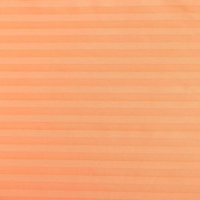 """Простыня """"Этель basic"""" персиковый 200*220 см,100% хлопок,страйп-сатин,135 г/м2"""