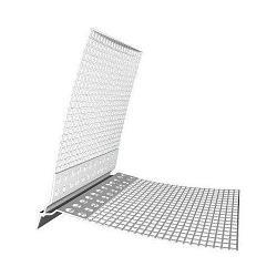 Фасадный ПВХ профиль с сеткой КАПЕЛЬНИК закрытый 2,5м (5см*5см)