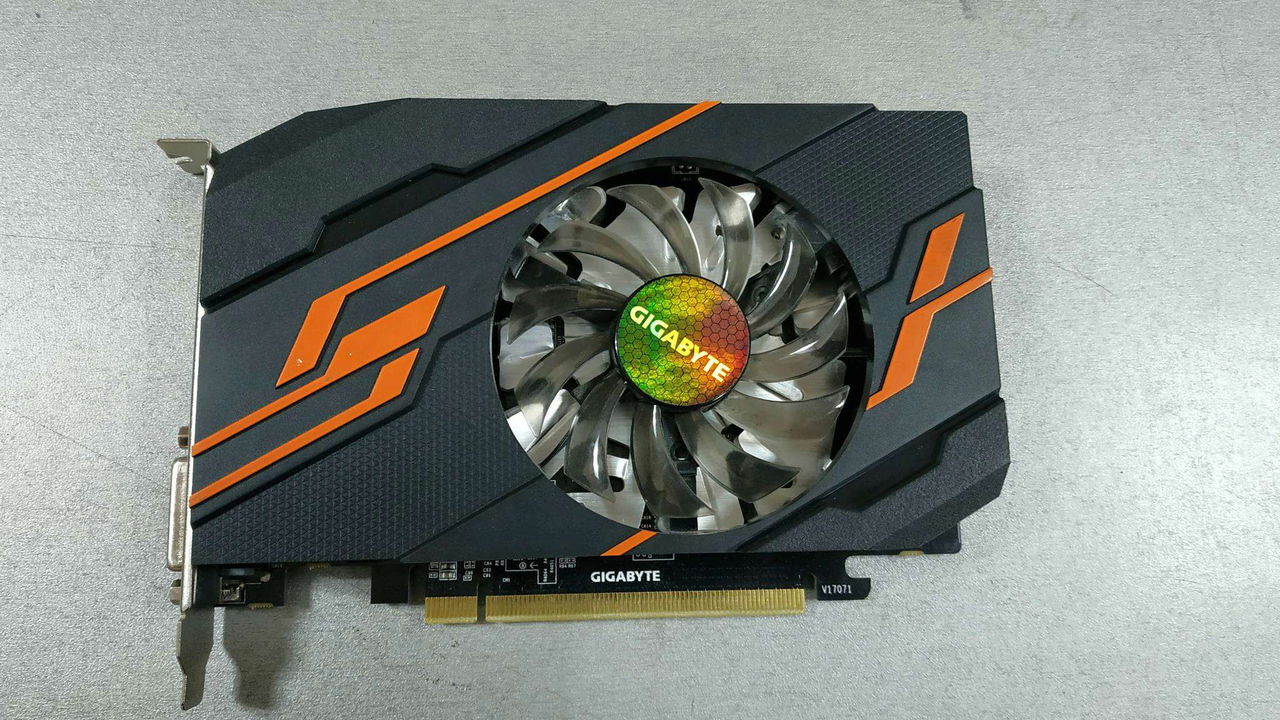 Видеокарта, Gigabyte, GT1030 OC 2G (GV-N1030OC-2GI) 4719331301699, DDR5, 64B, DVI-D, HDMI, Fan,