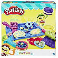 Пластилин Play-Doh Плейдо с формочками в наборе «Магазинчик печенья»