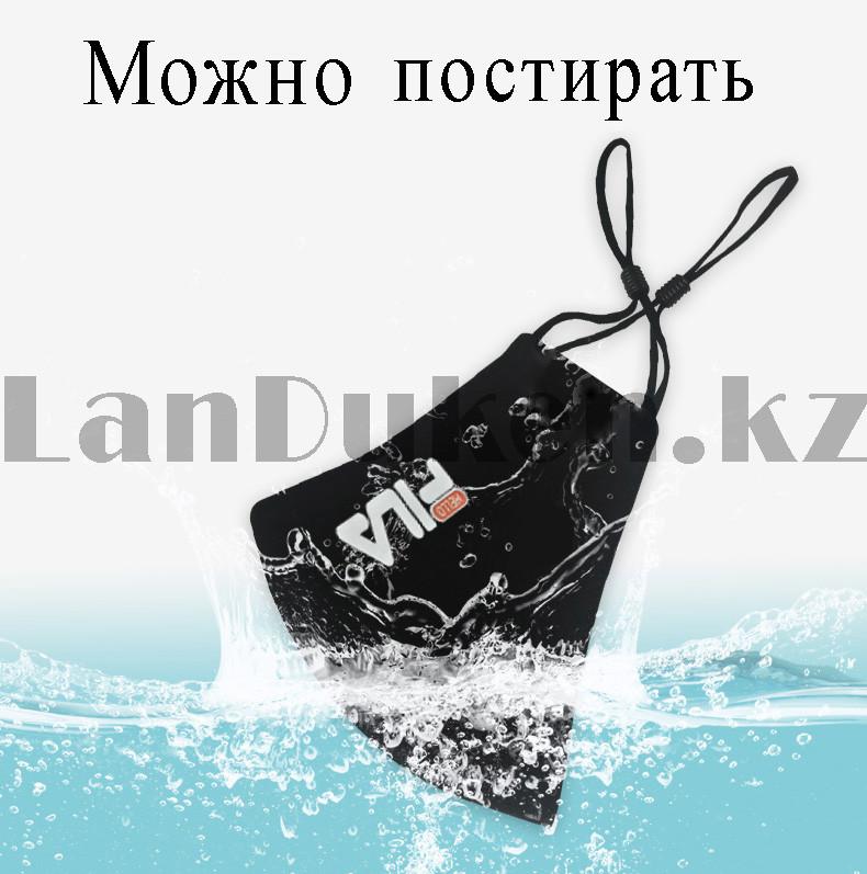 Многоразовая защитная маска спортивная с резинкой для регулировки длины Fashion Mask Fila в ассортименте - фото 6