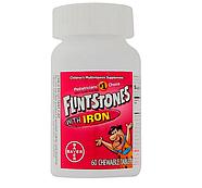 Flintstones, Детский поливитамин с железом, фруктовые вкусы, 60 жевательных таблеток, фото 3