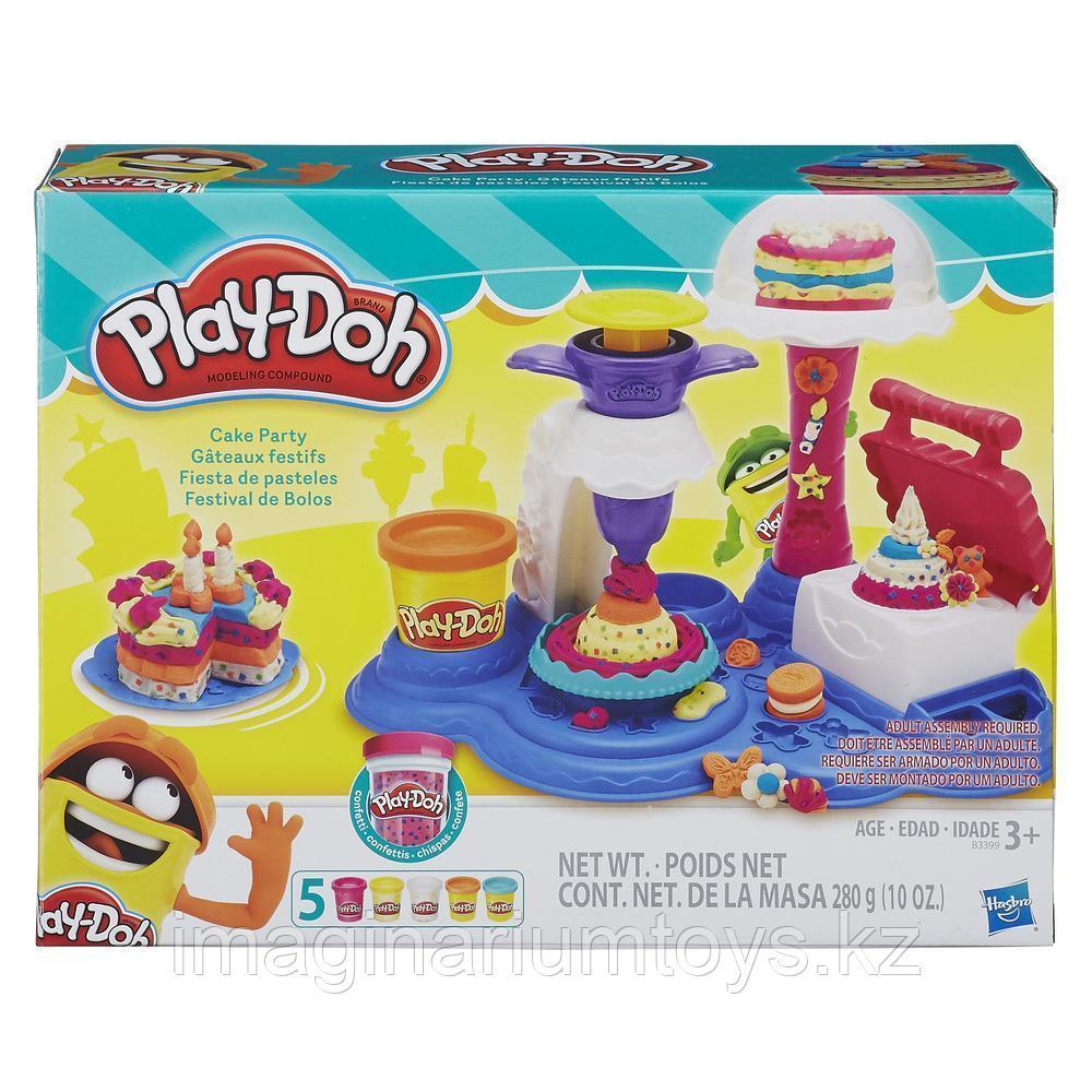 Пластилин Play-Doh Плейдо с формочками в наборе «Торт для вечеринки»