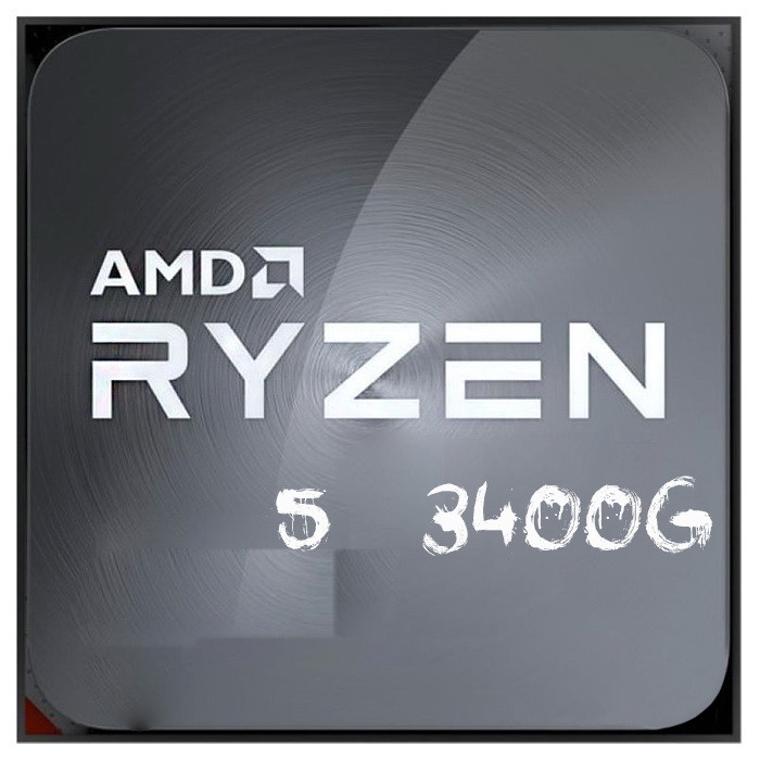 Процессор AMD  Ryzen 5 3400G   (3.8GHz ( до 4.0GHz) , 65W, 4/8)  Ryzen 5 3400G