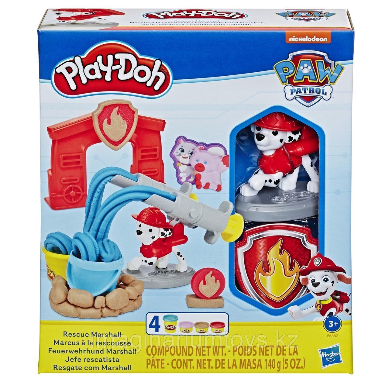 Play-Doh Плейдо набор пластилина «Щенячий патруль. Маршал»