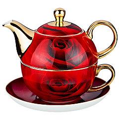 Чайный набор на 1 персону кармен, 3 пр. 450/350 мл.