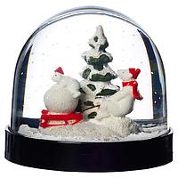 Снежный шар, ВИНТЕР 2020 , животные 8 см. ИКЕЯ