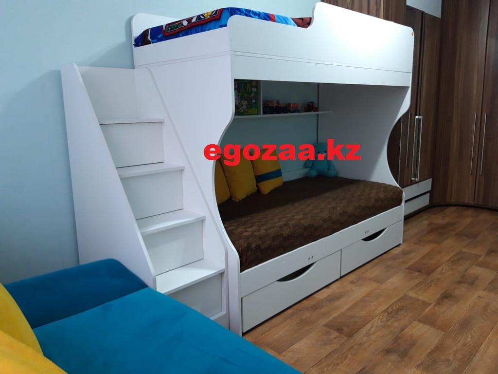 Двухъярусная кровать Капризун 443 белая