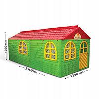 Детский домик Doloni  03550/3 Зеленый со шторками