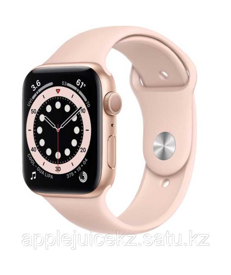 Apple Watch Series 6, 40 мм, корпус из алюминия золотого цвета, спортивный ремешок розовый песок