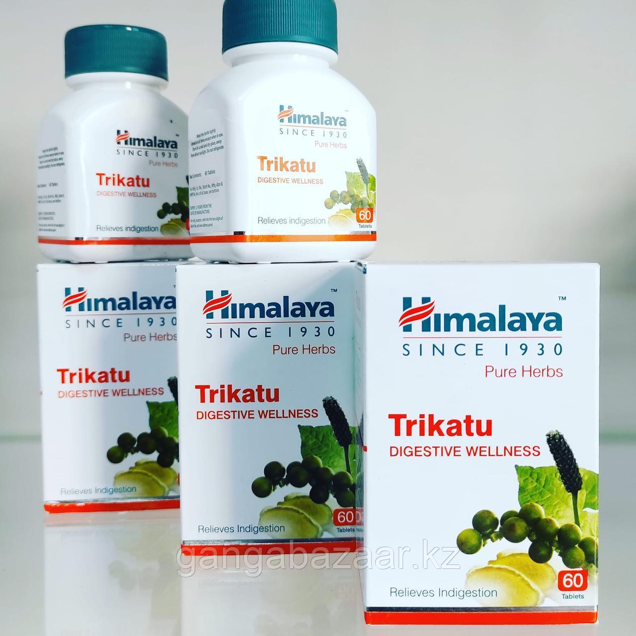 Трикату (Trikatu, Himalaya) - улучшает пищеварение, очищает организм шлаков и токсинов, оздоравливает, 60 таб