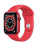 Apple Watch Series 6, 40 мм, корпус из алюминия цвета (PRODUCT)RED, спортивный ремешок красного цвет, фото 1