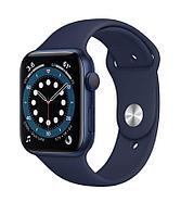 Apple Watch Series 6, 40 мм, корпус из алюминия синего цвета, спортивный ремешок «тёмный ультрамарин, фото 1