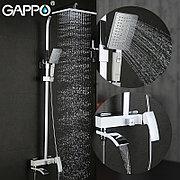 Gappo G2407-8 Душевой стойка белый/хром