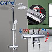 Gappo G2490 Душевая стойка с термостатом хром