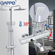 Gappo G2491 Душевая стойка с термостатом хром