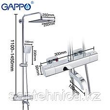 Gappo G2491 Душевая стойка с термостатом хром, фото 3