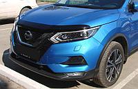Мухобойка (дефлектор капота) Nissan Qashqai 2019+