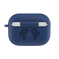 Силиконовый чехол для Apple AirPods Pro (без карабина, тёмно-синий)