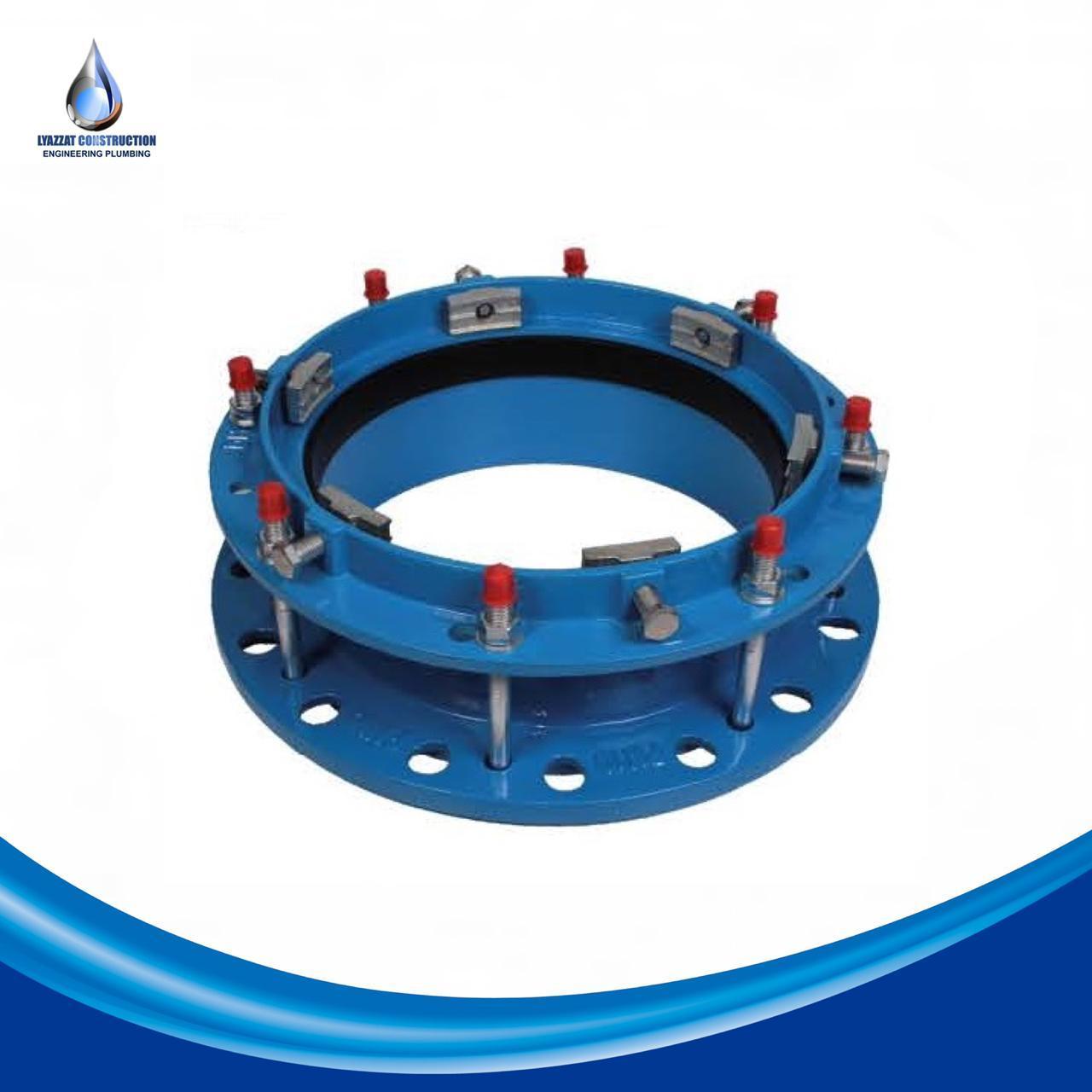 Фланец фиксирующий для ПЭ и ПВХ труб DN 400/450 PN10-16