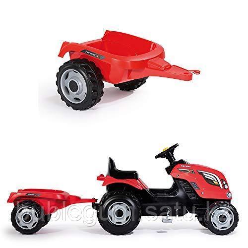 Детский педальный трактор Smoby Farmer XL 710108 с прицепом - фото 9