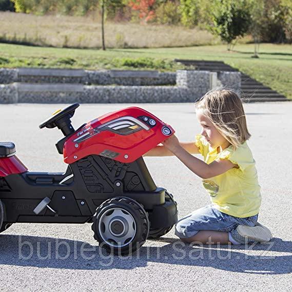 Детский педальный трактор Smoby Farmer XL 710108 с прицепом - фото 5