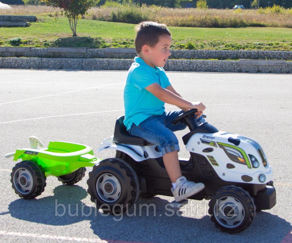 Детский педальный трактор Smoby Farmer XL 710108 с прицепом - фото 6