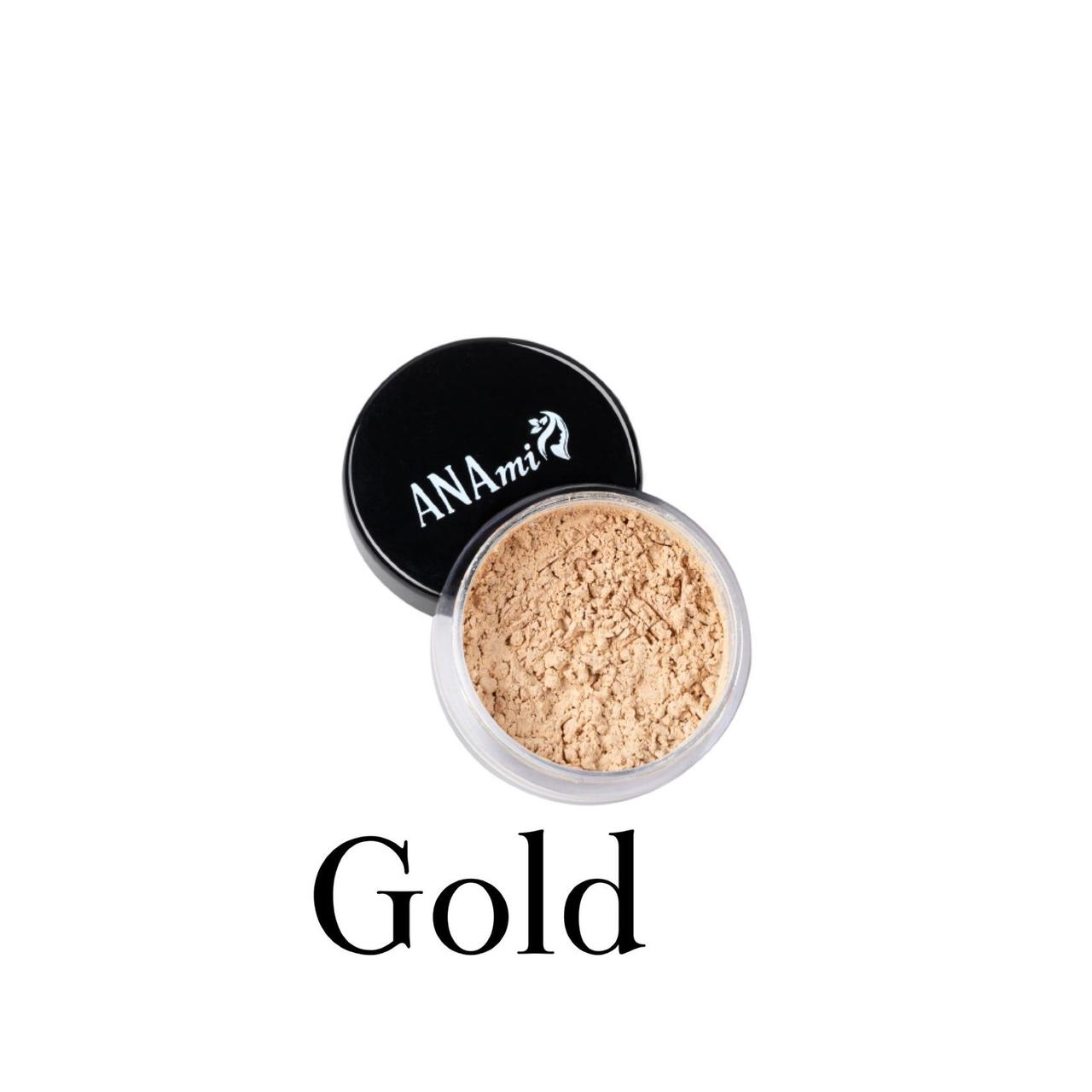 Минеральный хайлайтер ANAmi. Cатиновый Gold.