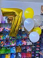 Цифра + букет из 6 шаров