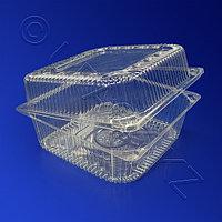 Казахстан Контейнер пластиковый 1450мл БОПС прозрачный с нераздельной крышкой 15,3х15,2х8,5см 570 шт/кор PK-15