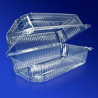 Kazakhstan Контейнер пластиковый 2000мл PET прозрачный с нераздельной крышкой 22,3х11х8,5см 330 шт/кор ПР-К-27
