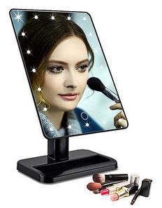 Зеркало косметическое для макияжа с LED подсветкой Magic Makeup Mirror (Черный)