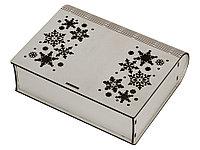 Деревянная коробка с резной крышкой Книга, М