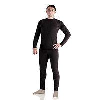 Комплект мужской термо «Норд» (джемпер, брюки), цвет чёрный, размер 44, рост 170