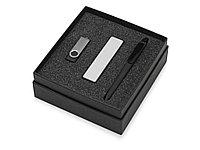 Подарочный набор Space Pro с флешкой, ручкой и зарядным устройством, черный