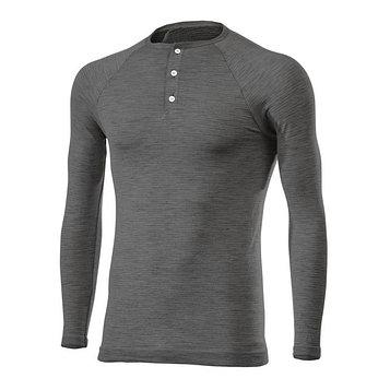 Термокофта SIXS SERAFINO MERINOS Wool, размер L-XL, чёрный, серый