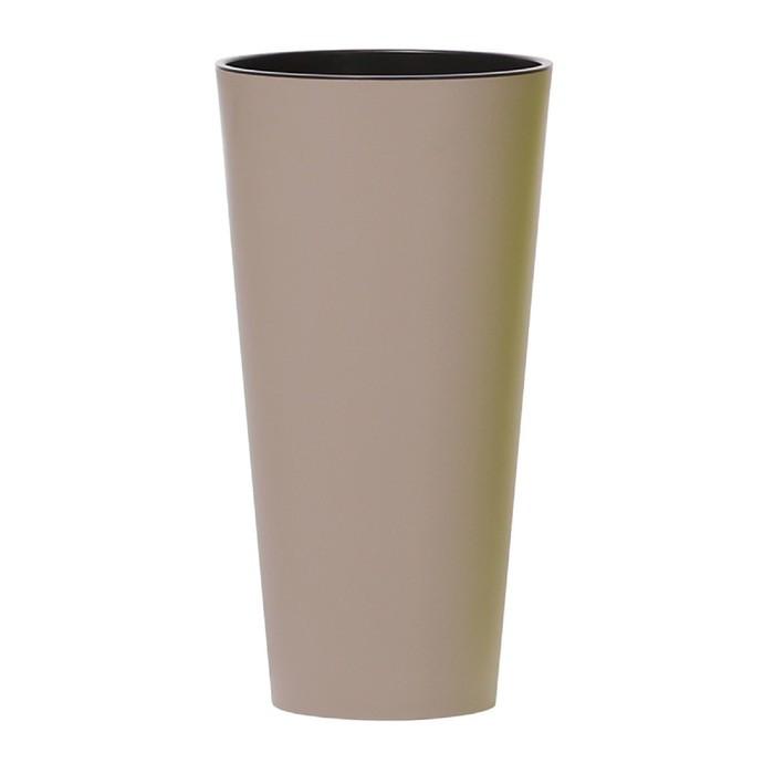 Кашпо TUBUS SLIM, 2 предмета: внутренняя и наружная ёмкости, 15 и 27 л, цвет мокко