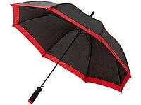 Зонт-трость Kris 23 полуавтомат, черный/красный