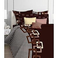 КПБ Chocolate 1,5 сп, размер 150 × 215 см, 145 × 210 см, 50 × 70 см - 2 шт