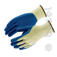 Перчатки нейлоновые белый с синим нитриловым покрытием