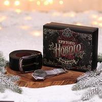 Мужской подарочный набор 'Крутого Нового года!', наручные часы и ремень