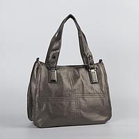 Сумка жен L-8820, 39-12*26, отд на молнии, н/карман, длин ремень, бронзовый